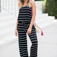 Yacht Adventures Jumpsuit, Black-White