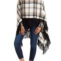 Topshop Plaid Cowl Neck Poncho | Nordstrom