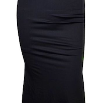 Marva Scrunched Butt Backless Maxi Dress - Black