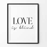 Love Quote, wall print art, love sign, home decor, typography print, home wall art, poster, prints, wall decor