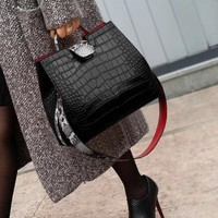Embossed Shoulder Crossbody Handbags