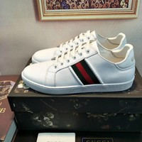 Gucci Men's Leather Fashion Sneakers Shoes