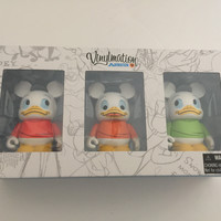 vinylmation animation 4 louie dewey huey combo set limited new with sealed box