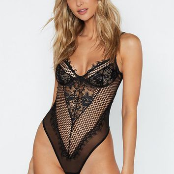 Such a Mesh Lace Bodysuit