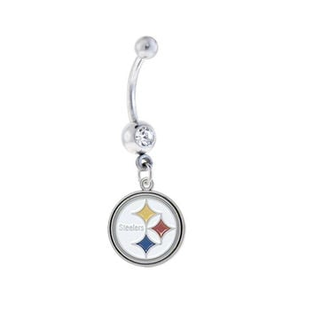 Pittsburgh Steelers NFL Sexy Belly Navel Ring