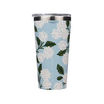 Rifle Paper Co. x Corkcicle Tumbler - Gloss Blue Hydrangea