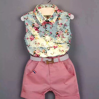 Floral Casual Clothing Shorts Set