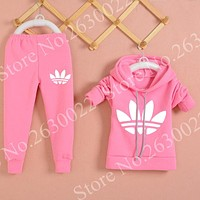 2017 New Chidren Kids Clothing Set Autumn Winter 2Piece Sets Hooded Coat Suits Fall Cotton Baby Boy/Girl Clothes Mickey