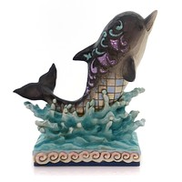 Jim Shore MAKE WAVES Polyresin Dolphin Ocean Wonderland 4057694