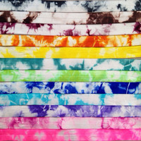 Tie Dye Elastic - FOE Elastic -Headbands Hair Ties 5 Yards