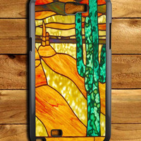 Cactus Stained Glass Samsung Galaxy Note 2 Case