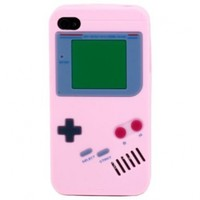 Sanoxy Silicone Game Boy Style Case/Skin/Cover for iPhone 5/5S - Non-Retail Packaging - Black