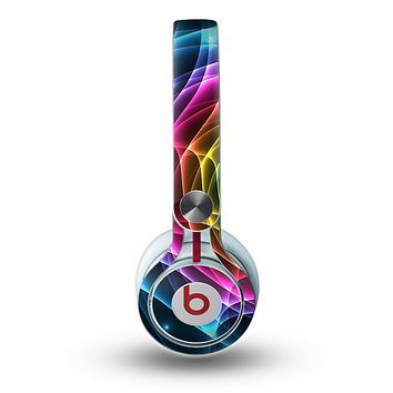 The Rainbow Neon Translucent Vortex Skin for the Beats by Dre Mixr Headphones