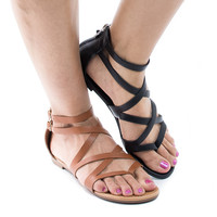 Ruby65 Thong Slip On Gladiator Flat Sandal