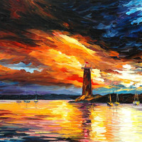 """Before a Storm - PALETTE KNIFE Oil Painting On Canvas By Leonid Afremov - Size 24"""" x 30"""" from afremov art"""