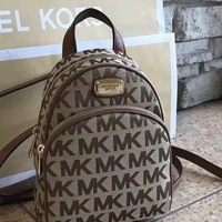 DCCKIN2 New Michael Kors ABBEY Backpack MK Brown Bag Designer Handbag Purse SM Original