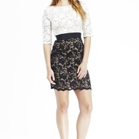 Work Day Colorblock Lace Sheath