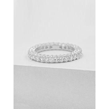 Oval Eternity Band - Silver