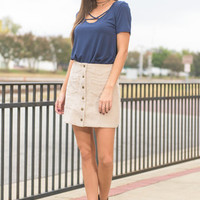 The Best Of Me Skirt, Taupe