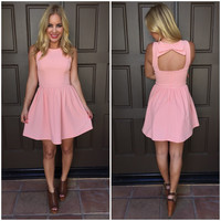Double Bow It Babydoll Dress - Pink