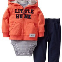 "Carter's 3-piece Infants ""LITTLE HUNK"" Hoodie SET"