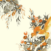 fox in foliage Art Print by Teagan White