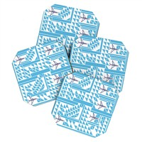 Vy La Airplanes And Triangles Coaster Set