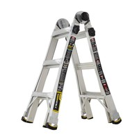 Gorilla Ladders 13 ft. MPX Aluminum Telescoping Multi-Position Ladder with 375 lb. Load Capacity Type IAA Duty Rating-GLA-MPX13 - The Home Depot