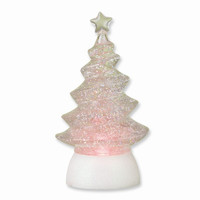 8.25 Inch Lighted Glitterdome Tree Figurine - Perfect Christmas Gift