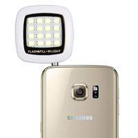 Fashion Built-in 16 led lights LED FLASH for Camera Phone support for multiple Photography mini selfie sync led flash