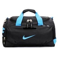 NIKE Casual large carry-on luggage Travel package one-shoulder sports bags B/G11926-1 Black+blue hook