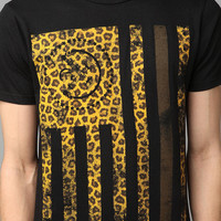 Urban Outfitters - Civil Leopard Flag Tee