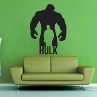 Hulk and Bruce Banner Silhoutte - Wall Vinyl - Large