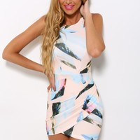 Things Are Different Dress Peach Print