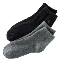 Earth Therapeutics 2-pk. Solid Aloe Socks (Gray And Black)