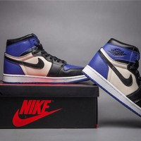Air Jordan 1 Retro Black/Royal Blue Basketball Shoes 40-47
