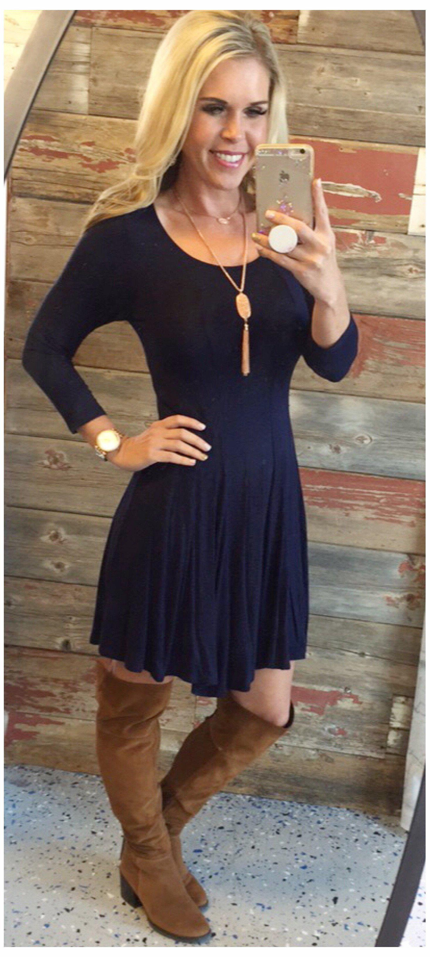 Image of We Both Know Tunic Dress: Blue