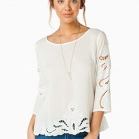 LOVER'S CALL BLOUSE IN WHITE