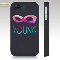 iPhone case, iphone 5, iPhone 4s case, iPhone 4 case, forever young, infinity hipster, typography art for your phone