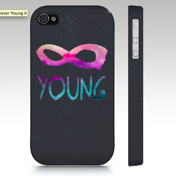 iPhone case, iphone 5 case, iPhone 4s case, iPhone 4 case, forever young, infinity hipster, typography art for your phone