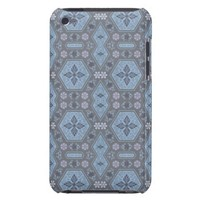 Vintage Geometric Floral in Gray and Light Blue iPod Touch Case-Mate Case