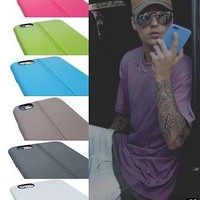 Back Case Cover TPU Soft Thin Ultra Rubber Leather Pattern Justin Bieber Gift