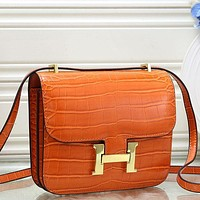 Herm¨¨s Women Fashion Leather Handbag Crossbody Shoulder Bag-16