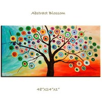 Abstract Fancy Blossom Contemporary Huge painting by elsestudio