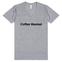 Coffee Wasted Tee-Unisex Athletic Grey T-Shirt