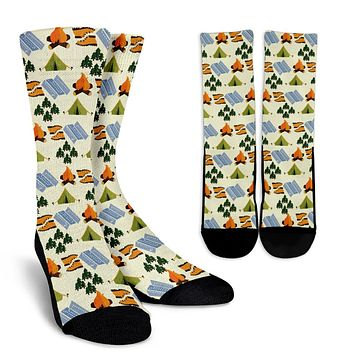 Camping Pattern Socks