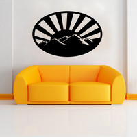 Vinyl Wall Decal Sticker Mountains with Sunset Design #OS_MB915
