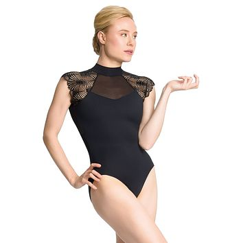 High Neck Cap Sleeve Leo PL2039 by So Danca