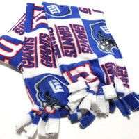 NY Giants Polar Fleece Infinity Scarf Kids Adults Double Layer