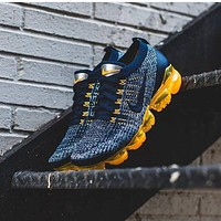 Nike Air Vapormax Flyknit Knitted Flying Line Steam Air Cushion Knitted Mesh Breathable Full Palm Air Cushion Running Shoes Men's and Women's Casual Sports Shoes